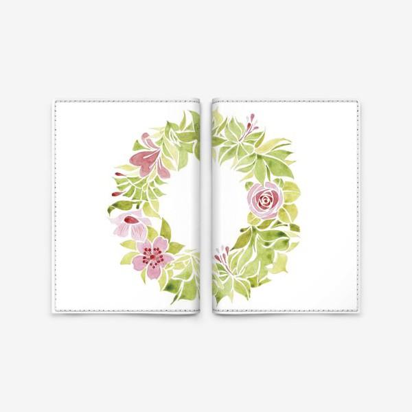 Обложка для паспорта «Венок из цветов»