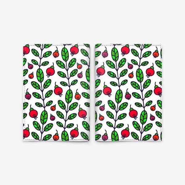 Обложка для паспорта «Красные ягоды»