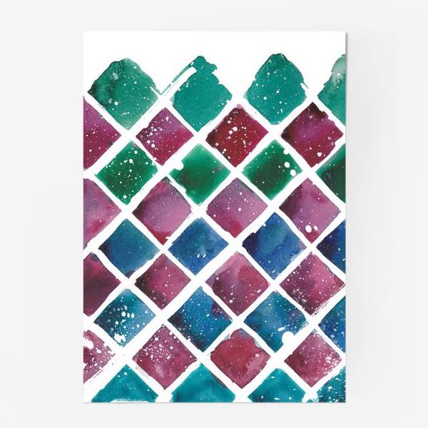 Постер «Снежный ромб»