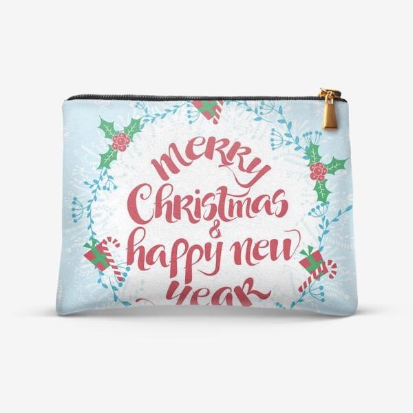 Косметичка «С Рождеством и Новым Годом»