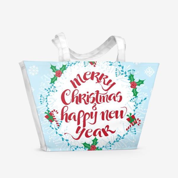 Пляжная сумка «С Рождеством и Новым Годом»