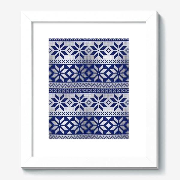 Картина «Скандинавский узор в синем»