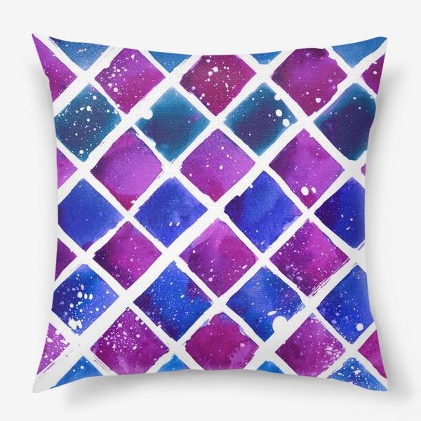 Подушка «Синий ромб»