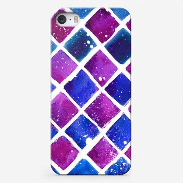 Чехол iPhone «Синий ромб»