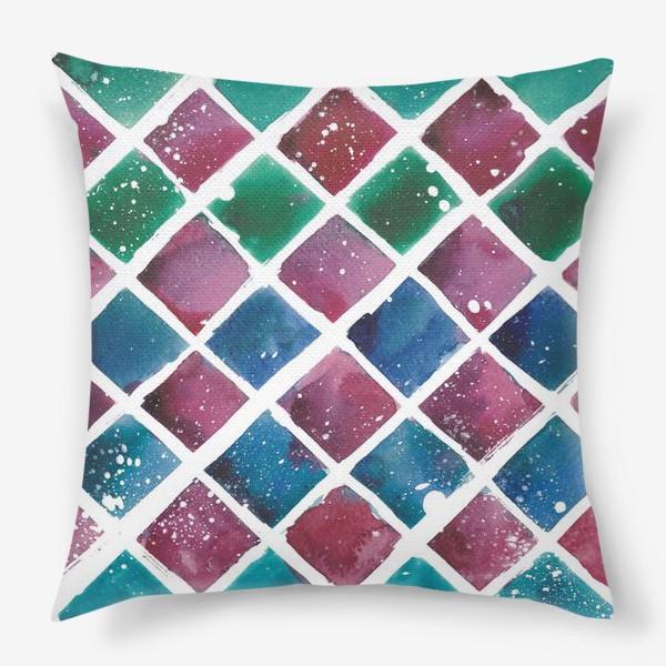 Подушка «Снежный ромб»