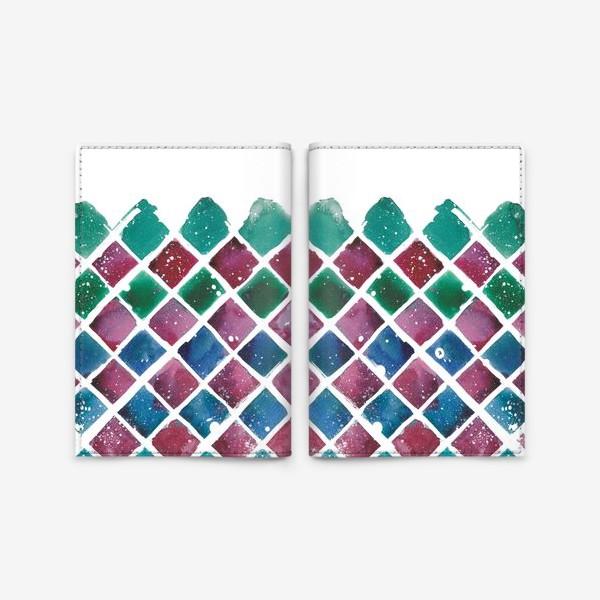 Обложка для паспорта «Снежный ромб»