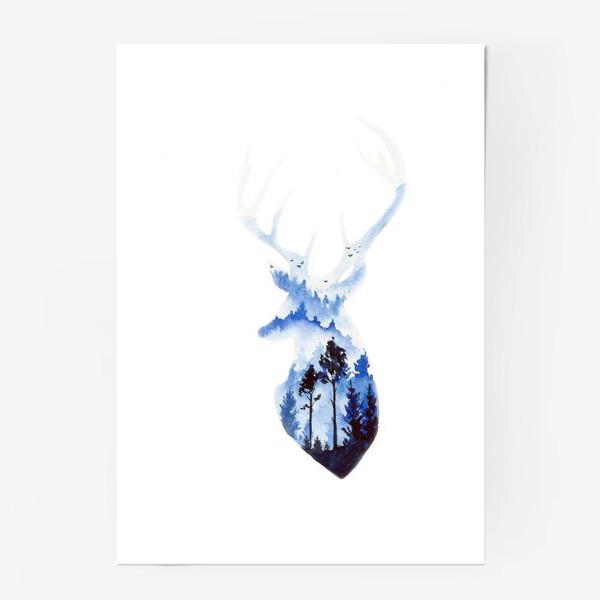 Постер «Лесной олень»