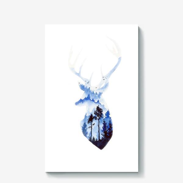 Холст «Лесной олень»