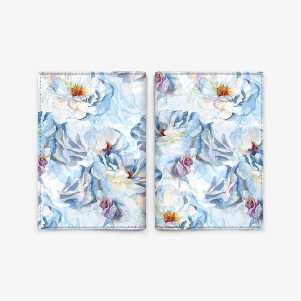 Обложка для паспорта «Розы нежность»
