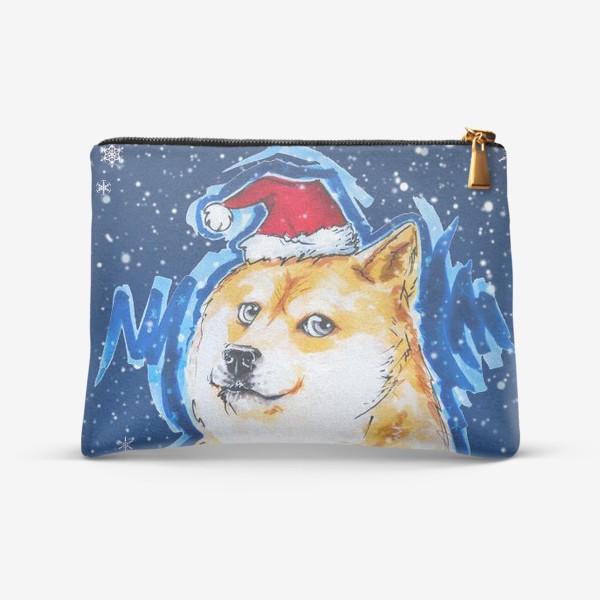 Косметичка «Собака в снегу»