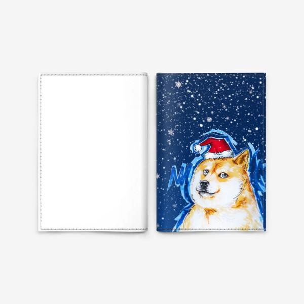 Обложка для паспорта «Собака в снегу»