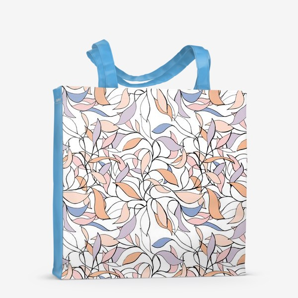 Сумка-шоппер «Pastel leaves»