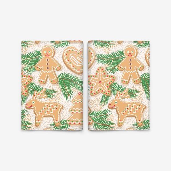 Обложка для паспорта «Имбирное печенье»
