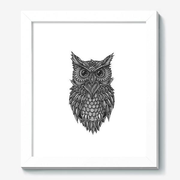 Картина «Чёрно белая сова»