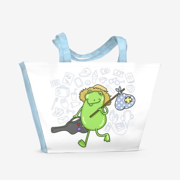 Пляжная сумка «Лягушка-Путешественница»