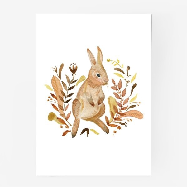 Постер «Кролик осенью»