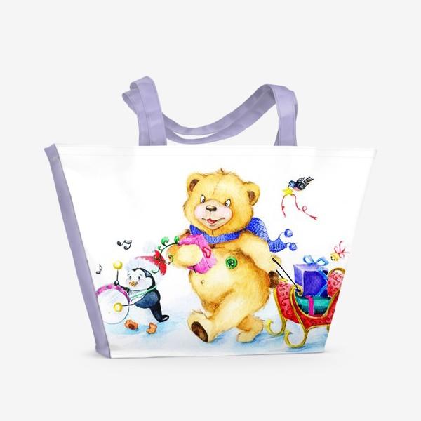 Пляжная сумка «Веселая компания. Новый год.»