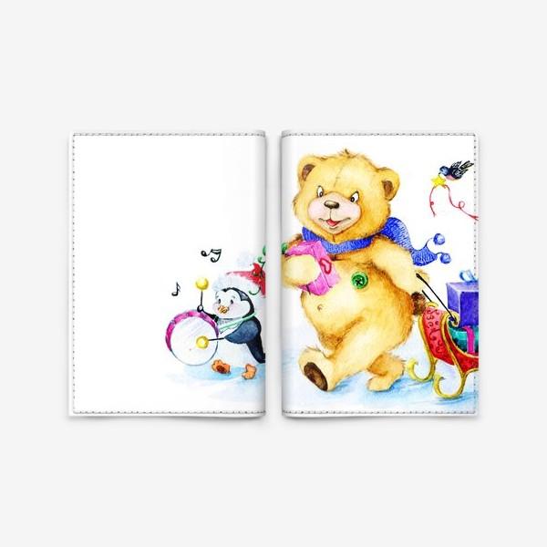 Обложка для паспорта «Веселая компания. Новый год.»