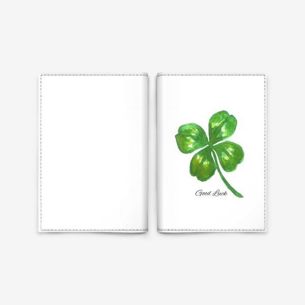 Обложка для паспорта «four-leaved clover»