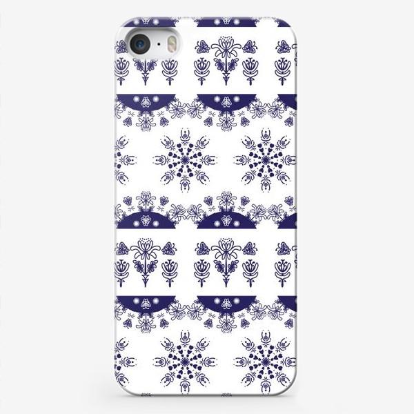 Чехол iPhone «Паттерн зима горизонтальный»
