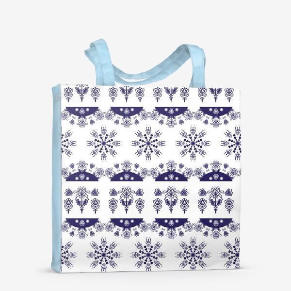 Сумка-шоппер «Паттерн зима горизонтальный»