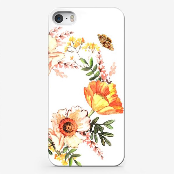 Чехол iPhone «Венок с весенними цветами»