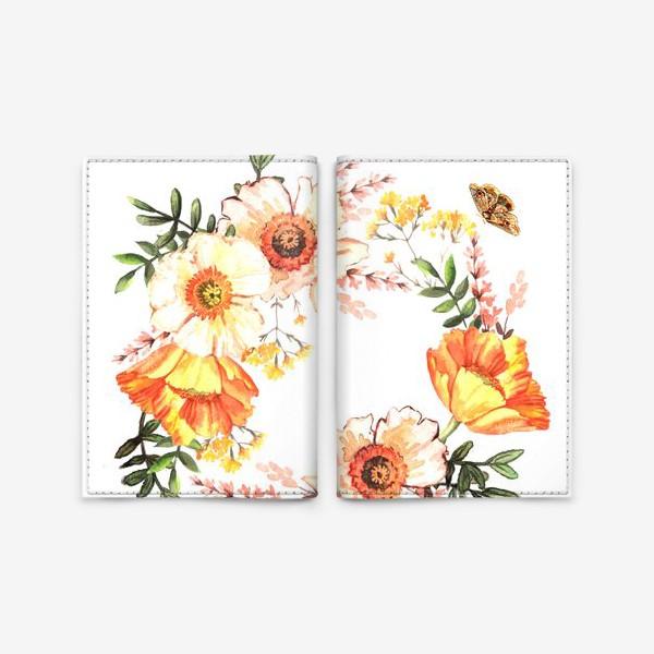 Обложка для паспорта «Венок с весенними цветами»