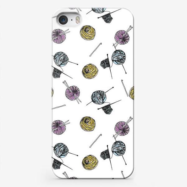 Чехол iPhone «Knitting. Вязание. Люблю вязать. »