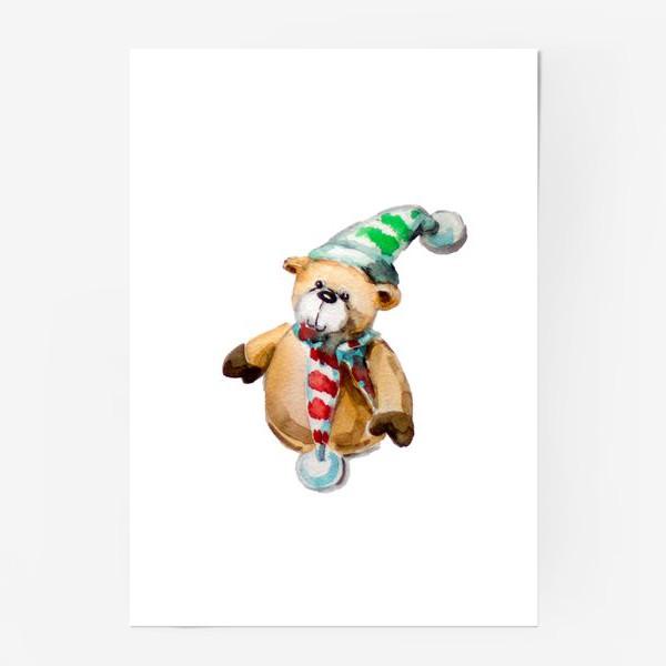 Постер «Новогодний мишка»