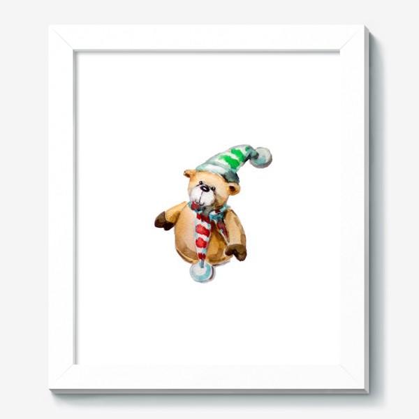 Картина «Новогодний мишка»