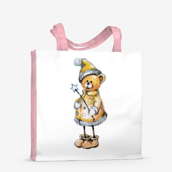 Сумка-шоппер «Новогодний мишка волшебник»