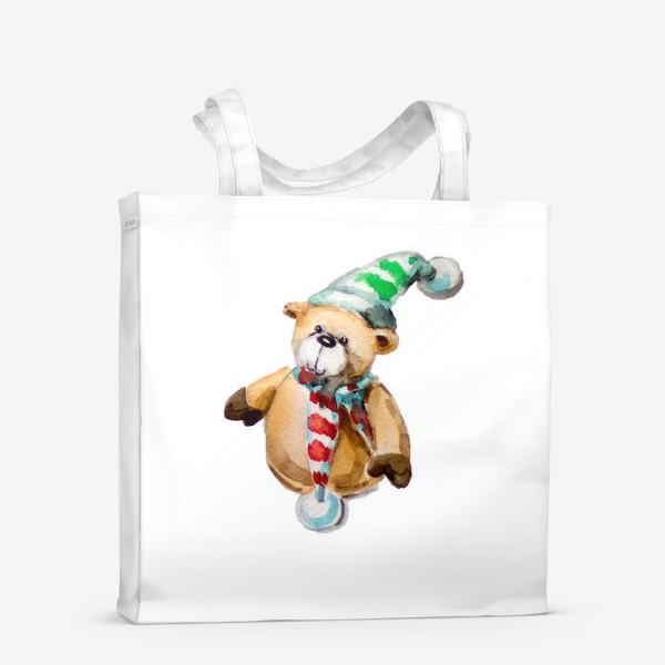 Сумка-шоппер «Новогодний мишка»