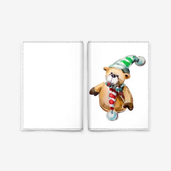 Обложка для паспорта «Новогодний мишка»