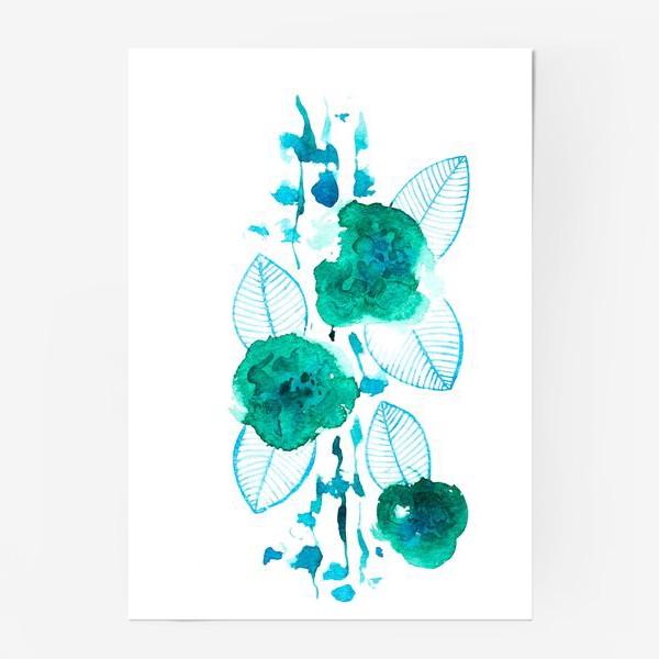 Постер «абстрактные цветы»