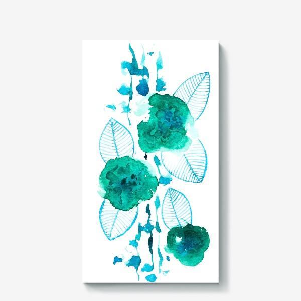 Холст «абстрактные цветы»