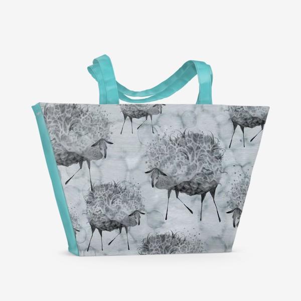 Пляжная сумка «Облачные овцы»