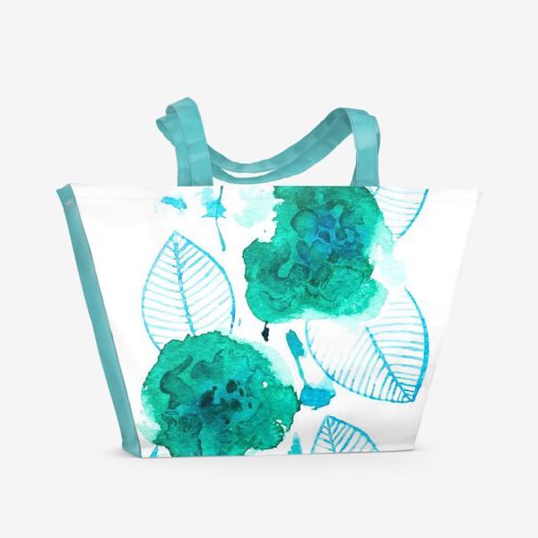 Пляжная сумка «абстрактные цветы»