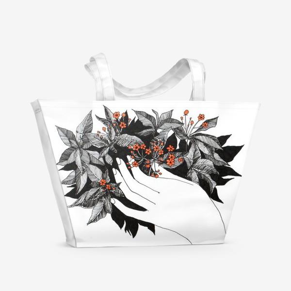 Пляжная сумка «Цветочки»