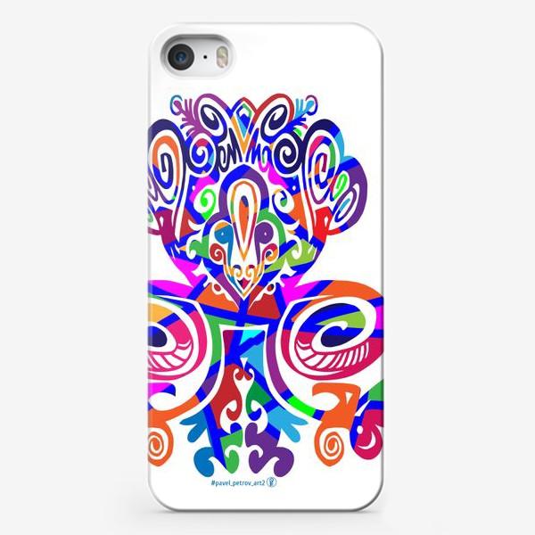 Чехол iPhone «Цветной вензель»