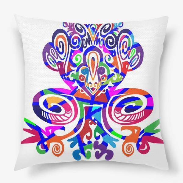 Подушка «Цветной вензель»