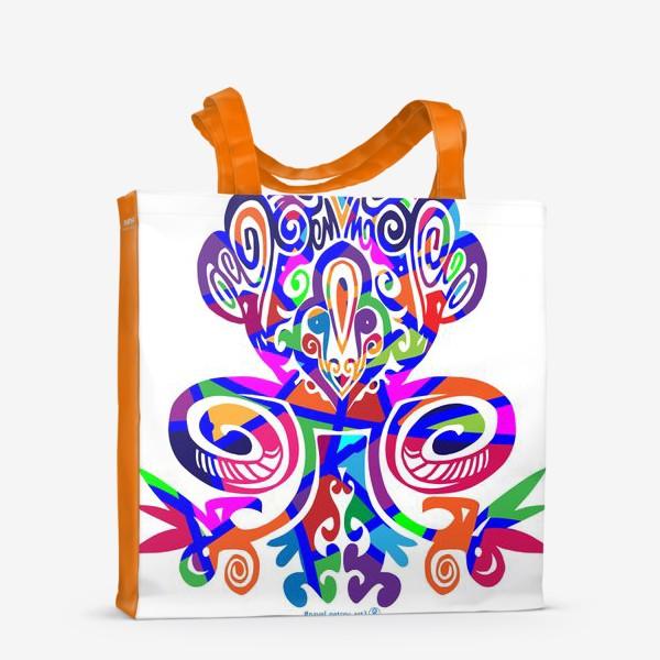 Сумка-шоппер «Цветной вензель»