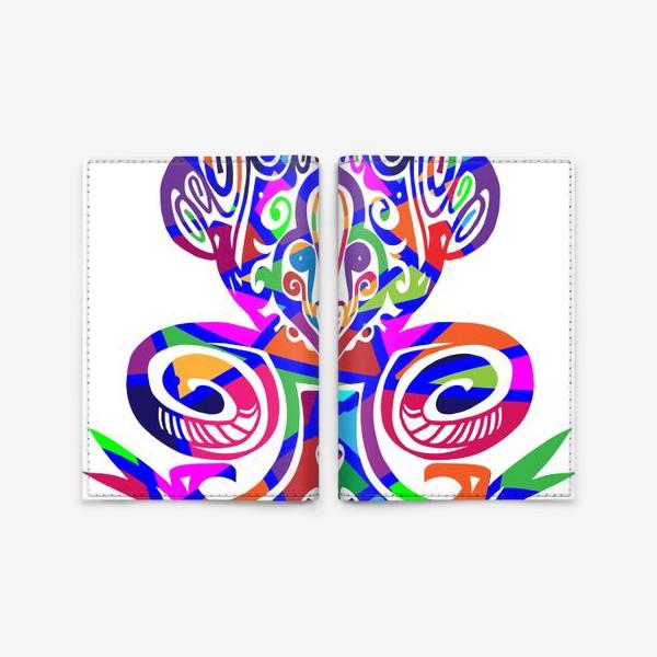 Обложка для паспорта «Цветной вензель»