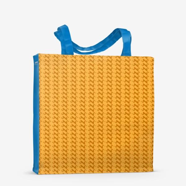 Сумка-шоппер «Жёлтый вязанный паттерн»