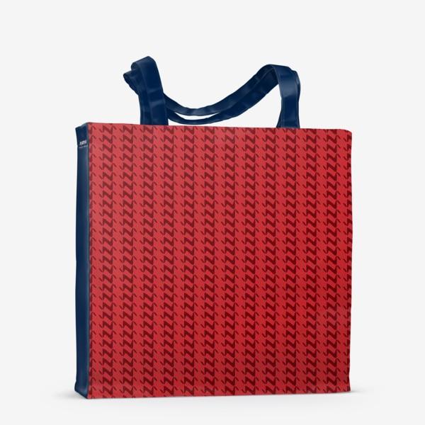 Сумка-шоппер «Красный вязаный паттерн»