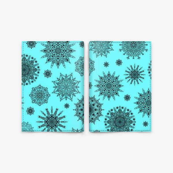 Обложка для паспорта «Blue Oriental Pattern»
