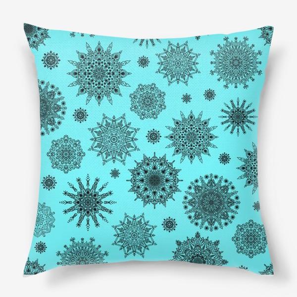 Подушка «Blue Oriental Pattern»