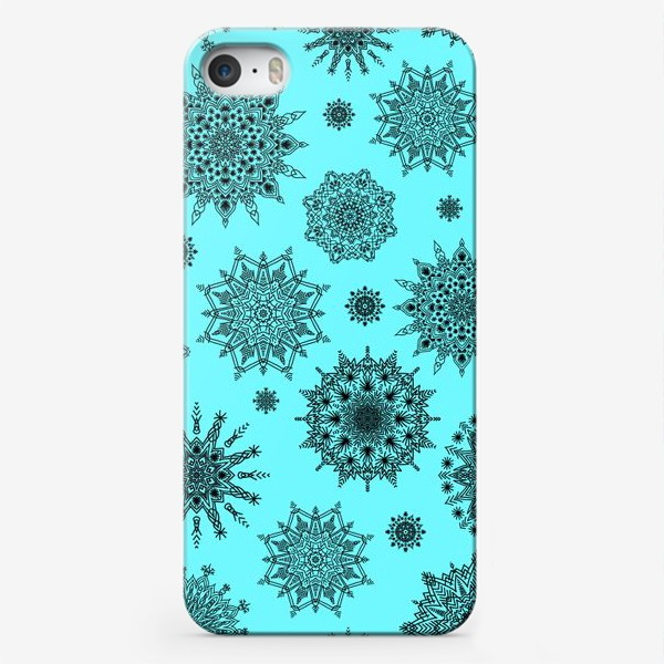 Чехол iPhone «Blue Oriental Pattern»