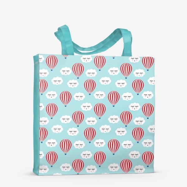 Сумка-шоппер «Воздушные шары в облаках»