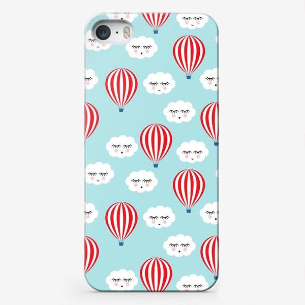 Чехол iPhone «Воздушные шары в облаках»