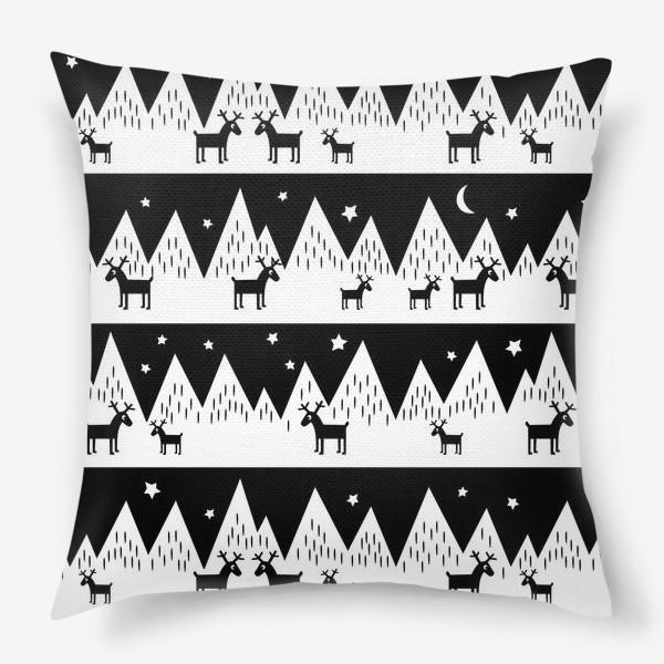 Подушка «северные олени»